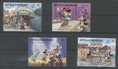 DISNEY A PARIS Antigua et Barbuda 4 val de 1989