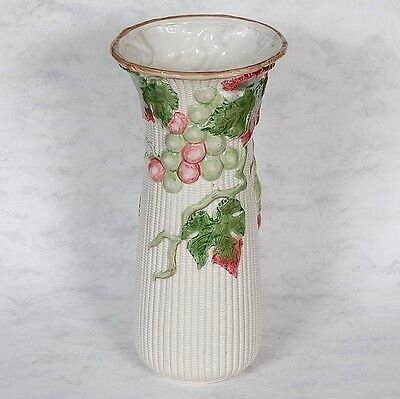 "FITZ & FLOYD ""BORDEAX"" FLOWER VASE - GRAPES & IVY"