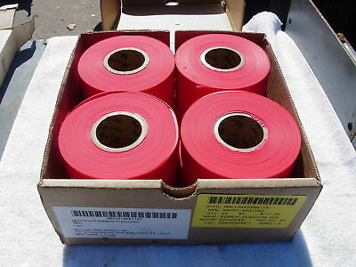 Mutual Industries Flagging Ribbon Box Of 12 Red New