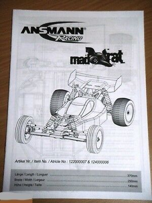New Ansmann Mad Rat Instructions / Manual
