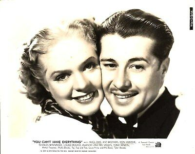 """ALICE FAYE & DON AMECHE """"You Can't Have Everything""""1937"""