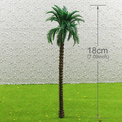 TDT18 20pcs Layout Model Train Palm Trees Scale O 18cm