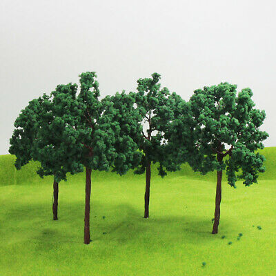 D16090 8pcs Scale Train Layout Set Model Trees G O 16cm