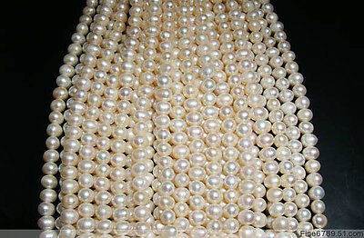 Lots 10Strands 9-10mm Round Freshwater Pearl Beads
