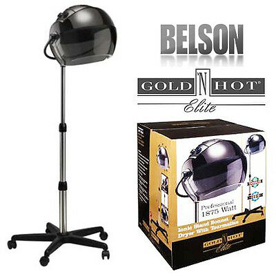 Gold 'N Hot Elite 1875-Watt Professional Stand Bonnet Dryer GH1053 New