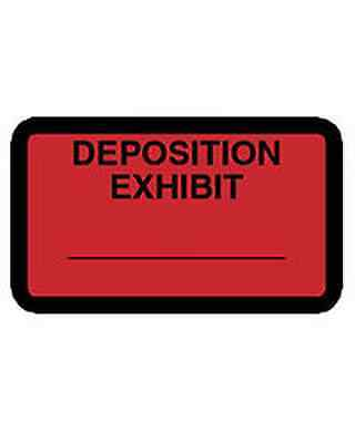 Deposition Exhibit Label - 252 per pack (Red)