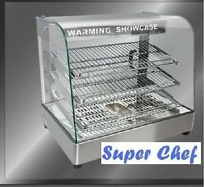 """New! Heated Food Display Warmer Cabinet Case 26""""  S/S"""