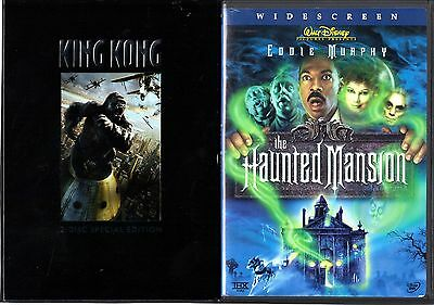 King Kong (2006, SEAW) & The Haunted Mansion - 2 DVDs