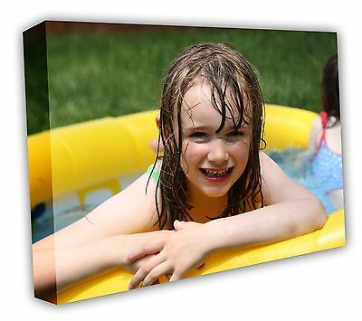 Your PHOTO on LARGE PERSONALISED BOX canvas print 30MM SQUARE FRAME 14X14IN