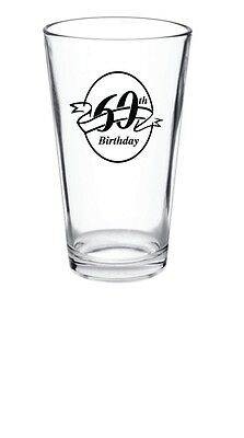 96 - 15oz Personalized Glass Birthday Pint Glasses