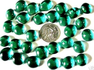 25 small TEAL Glass Nuggets Mosaics NEW Gems in Store