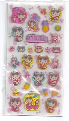 Sanrio Hello Kitty Stickers Hard Plastic #1007