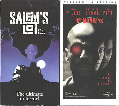 Salem's Lot: The Movie (VHS, 1993) & 12 Monkeys - 2 VHS