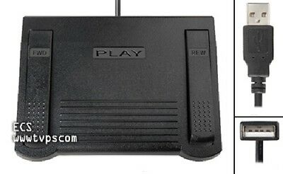 IN-DVI-USB INDVIUSB Foot Pedal for PC Transcribing Transcription