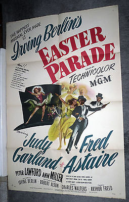EASTER PARADE original 1948 one sheet movie poster JUDY GARLAND/FRED ASTAIRE
