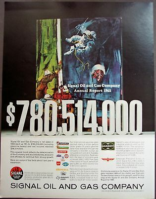 1966 Signal Oil and Gas Company original vintage ad