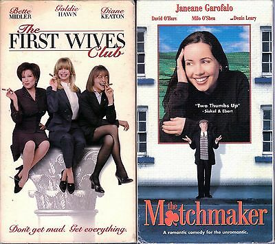 The First Wives Club (VHS,1997) & The Matchmaker (VHS) - 2 Romantic Comedies