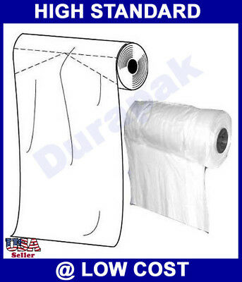 "20X5X72"" 1 Roll 150 White 1.25 mil Premium Garment Bag Long Dress Gown Cover Use"