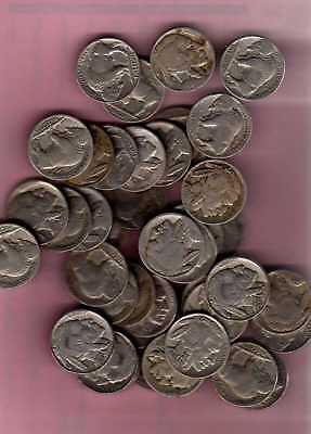 Multiple lots of 100 Buffalo Nickels - With dates