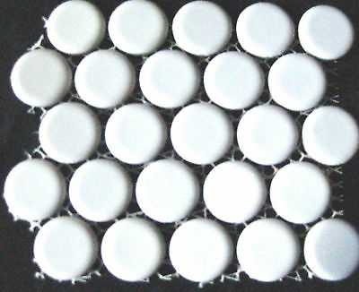 25 WHITE 19mm Round Mosaic Tiles The Glass Store & More