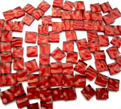 100 Red Mosaic Tiles 1cm x 1cm The Glass Store & More