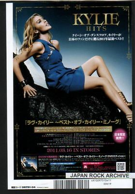 2011 KYLIE MINOGUE Hits JAPAN PHOTO PROMO AD advert