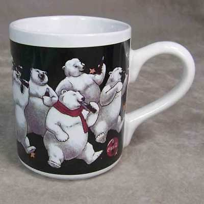 Coca Cola Drinking Coke Polar Bears Coffee Mug 1996 VGC