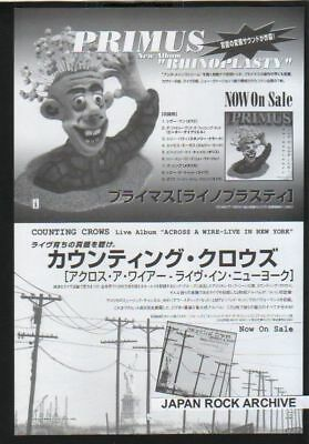 1998 PRIMUS / COUNTING CROWS JAPAN magazine PROMO AD