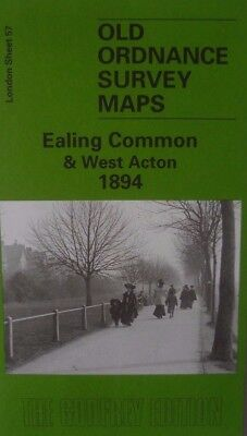 OLD ORDNANCE SURVEY DETAILED MAP EALING COMMON & WEST ACTON LONDON 1894 S57 New