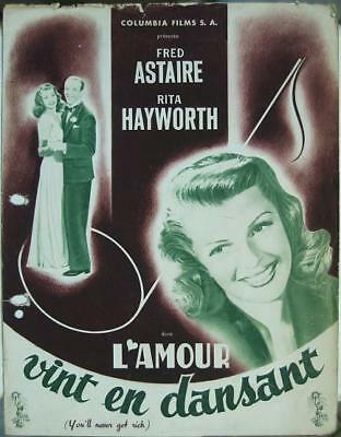 YOU'LL NEVER GET RICH 1941 FRED ASTAIRE Pressebook
