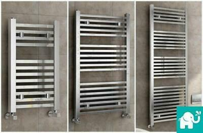 Square Heated Chrome Bathroom Towel Rail Rad Radiator