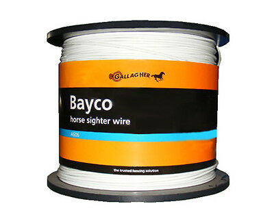 625m x 4mm Bayco Sighter Wire Fence Equine