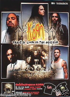 """KORN """"TAKE A LOOK IN THE MIRROR"""" THAILAND PROMO POSTER-Individual Band Shots"""