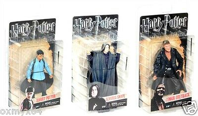 NECA Harry Potter Deathly Hallows 3 Figure Set Fenrir Greyback Severus Snape!