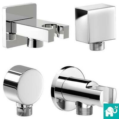 Chrome Hand Shower Mixer Valve Outlet Connector Bracket