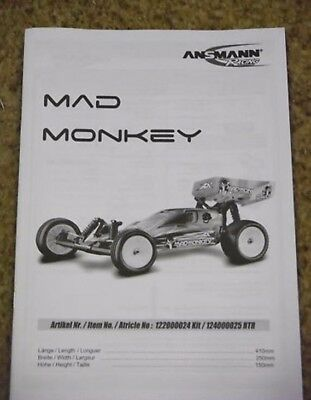 New Ansmann Mad Monkey Instructions / Build Manual