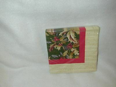 """Anna Griffin """"blythe Holly"""" 20 Paper Lunch Napkins-New"""