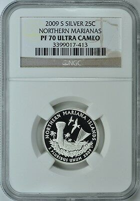 2009-S Northern Marianas Silver Proof Quarter 25C Ngc Pf70 Ultra Cameo