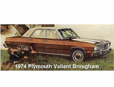 Tool Box  Magnet 1974  Plymouth Gold Duster Yellow  Auto Refrigerator
