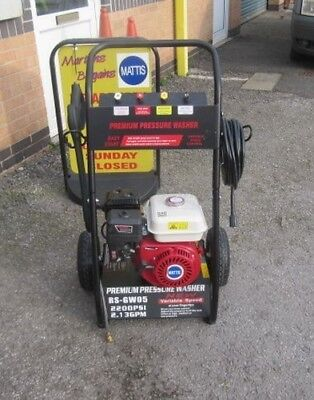 2200psi PETROL PRESSURE WASHER,DRAW FROM DRUM  5.5hp