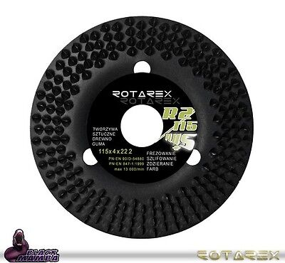 Rotarex R2 WoodCarver Carving for Grinder 115mm Shaping Disc R2115 Black Mamba
