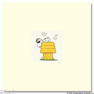 PEANUTS Snoopy on Dog House with Sunglasses ETCHING