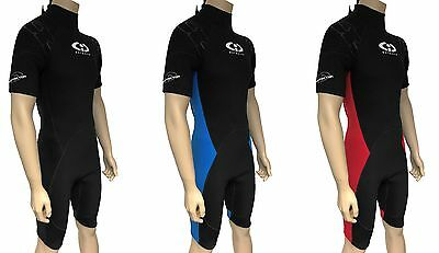 Mens Twf Cic 3Mm Neoprene Shortie Wetsuit Shorty Diving Surfing Jetski Wet Suit