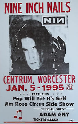 Nine Inch Nails w/special guest: Adam Ant Poster