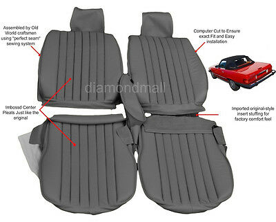 Mercedes Benz 107 MB-Tex Seat Covers 450SL 380SL 560SL W107 SL 1972-1989