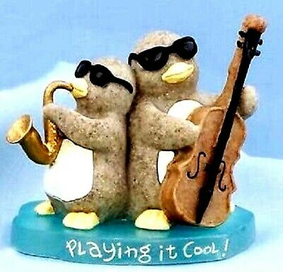 PLAYING IT COOL Jazz Penguin Quarry Critters #46628 ~