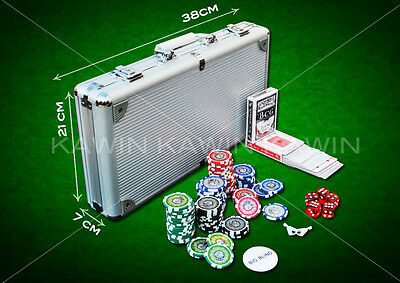 Set Kit 300 Fiches Olografiche Chips Poker Valigetta