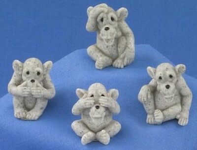 MINI CHIMP ASST (Set of 4) Quarry Critters #46520 NEW CUTE-NICE GIFT HOME DECOR