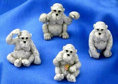 MINI GORILLA ASSORT(Set of 4)Quarry Critters #46521~NEW NICE GIFT HOME DECOR