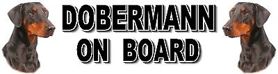 DOBERMANN ON BOARD Car Sticker No 2 By Starprint